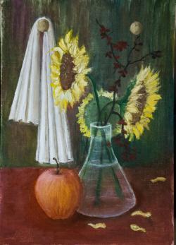 Picturi decor mar si floarea soarelui