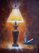 Picturi decor La lumina lampii