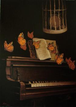 Picturi decor Compozitie cu fluturi