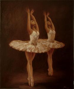 Picturi decor doua balerine