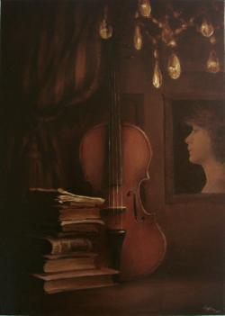 Picturi decor Interior cu vioaraa
