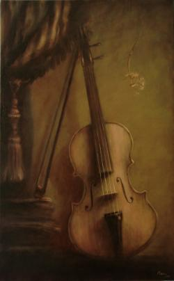 Picturi decor natura statica cu vioara