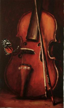 Picturi decor natura statica cu vioara1