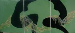 Picturi decor Triptic cu voal