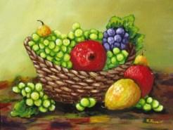 Picturi decor Cos cu fructe