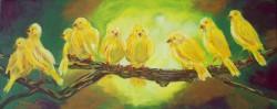 Picturi decor Pasari galbene