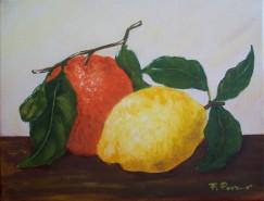 Picturi decor Portocala si lamaie