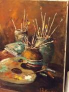 Picturi decor Natura statica cu paleta