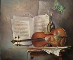 Picturi decor Interior cu vioara