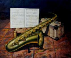 Picturi decor Saxofonul vechi