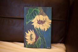 Picturi decor floarea soarelui plangatoare