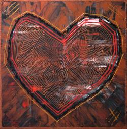 Picturi decor Copper Heart Red