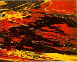 Picturi decor Flow Black 2