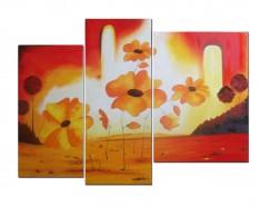 Picturi decor Flori si soare-reproducere