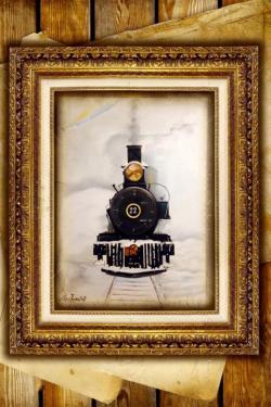 Picturi decor Locomotiva veche