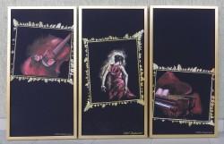 Picturi decor Pian, vioara si dansatoare