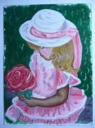Picturi decor Fetita in parc