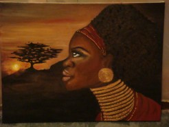 Picturi decor African sunrise