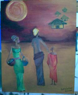 Picturi decor africa X