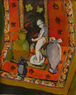 Picturi decor G106-NATURĂ STATICĂ CU STATUETĂ