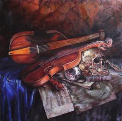 Picturi decor Violin still life