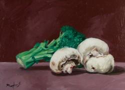 Picturi decor Brocoli si ciuperci