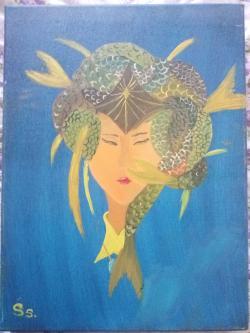 Picturi decor Fish-woman