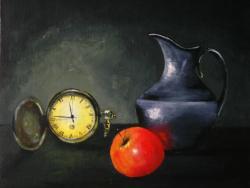 Picturi decor ceas cu mar rosu