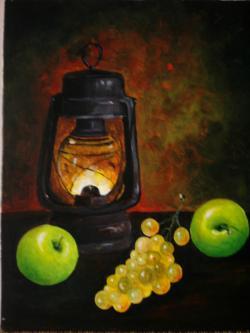 Picturi decor felinar si mere verzi