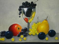 Picturi decor Fructe si cupa cu struguri