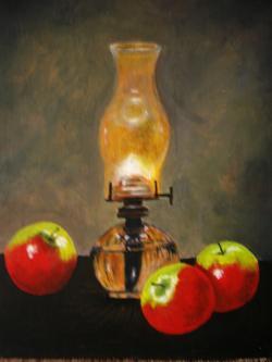 Picturi decor lampa de sticla