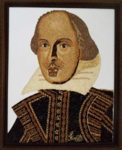 Picturi din seminte Portret William Shakespeare