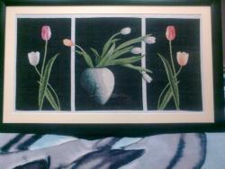 Picturi goblen Triptic cu lalele