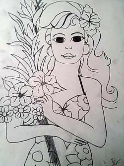Picturi in creion / carbune  Florareasa