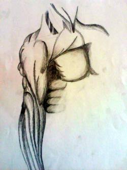Picturi in creion / carbune Studiul muschilor