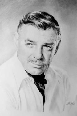 Picturi in creion / carbune Clark Gable