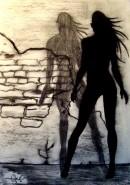 Picturi in creion / carbune Betrayal