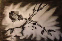 Picturi in creion / carbune Broken