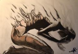 Picturi in creion / carbune Deliverance