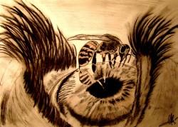 Picturi in creion / carbune Fear