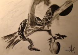 Picturi in creion / carbune Temptation