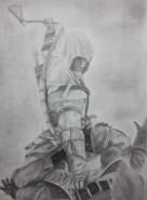 Picturi in creion / carbune Assassins creed 3