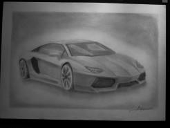 Picturi in creion / carbune Lamborghini