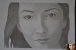 Picturi in creion / carbune Portret fata 3