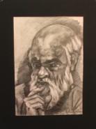 Picturi in creion / carbune Maestrul