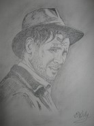 Picturi in creion / carbune H.ford-indiana jones