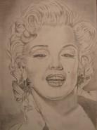 Picturi in creion / carbune Marlyn monroe