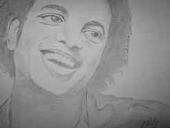 Picturi in creion / carbune Michael jackson