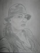 Picturi in creion / carbune Woman