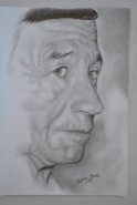 Picturi in creion / carbune Bunicul